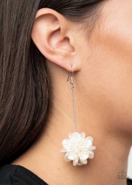 Swing Big - White Earrings - Life of the Party Exclusive January 2021