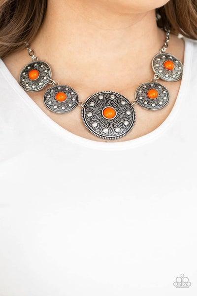 Hey, SOL Sister - Orange Necklace