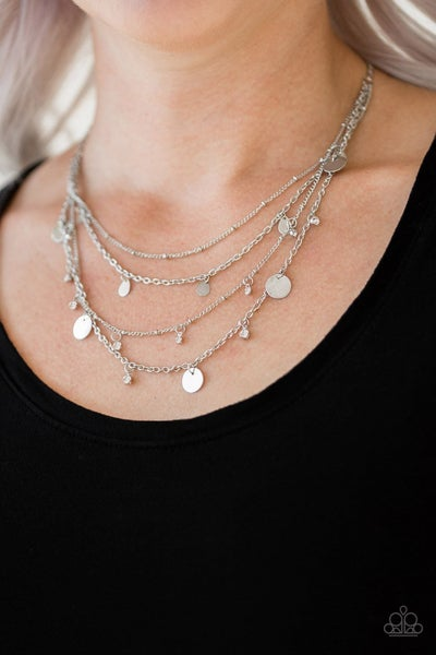 Classic Class Act - White Necklace