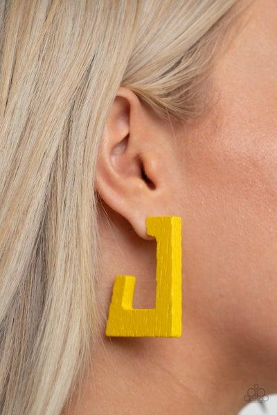 The Girl Next OUTDOOR - Yellow Earrings