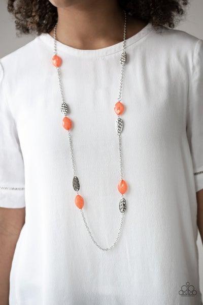 Beachfront Beauty - Orange Necklace