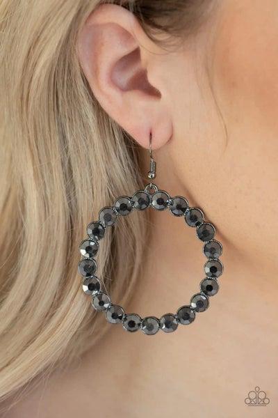 Welcome to the GLAM-boree - Gunmetal Earrings