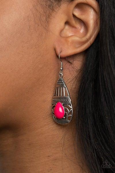 Eastern Essence - Pink Earrings