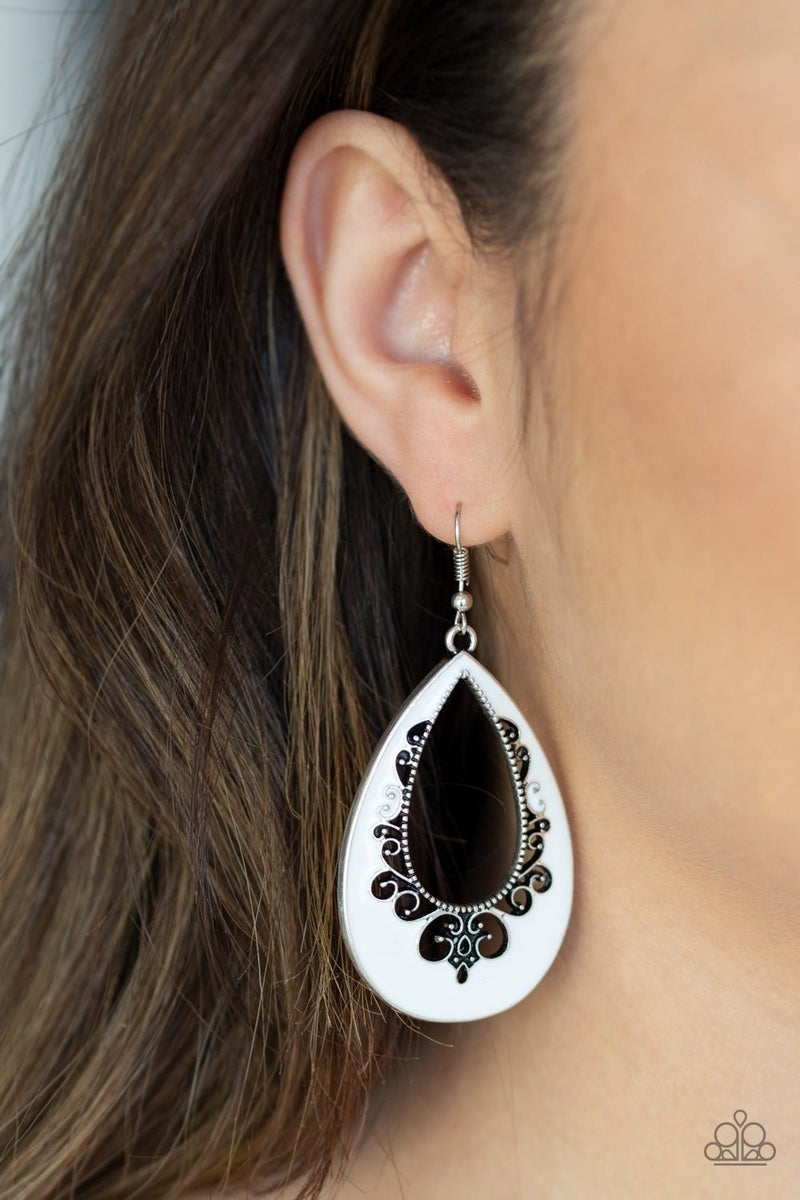 Compliments to the CHIC - White Earrings