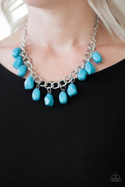 Take the Color Wheel - Blue Necklace