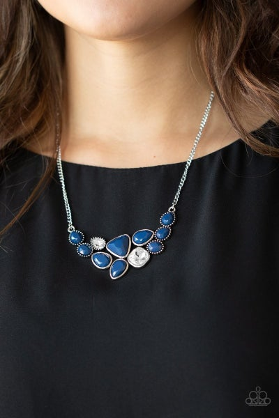 Breathtaking Brilliance - Blue Necklace