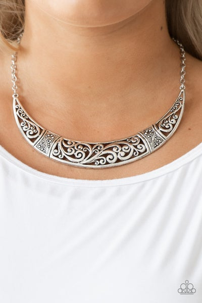 Bull In A China Shop - Silver Necklace