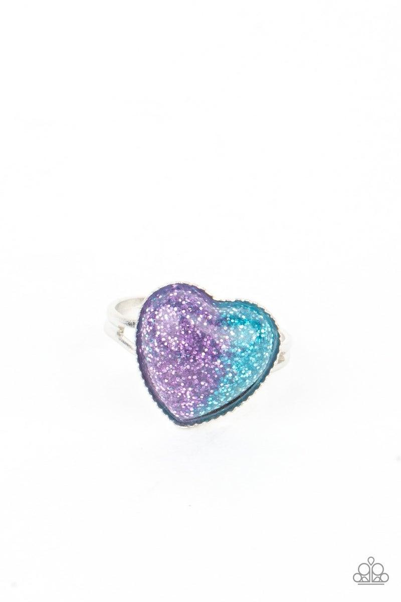 Starlet Shimmer Ring - Glitter Hearts