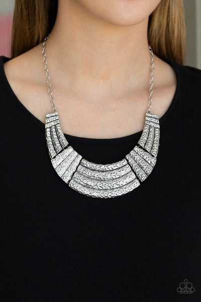 Ready To Pounce - Silver Necklace