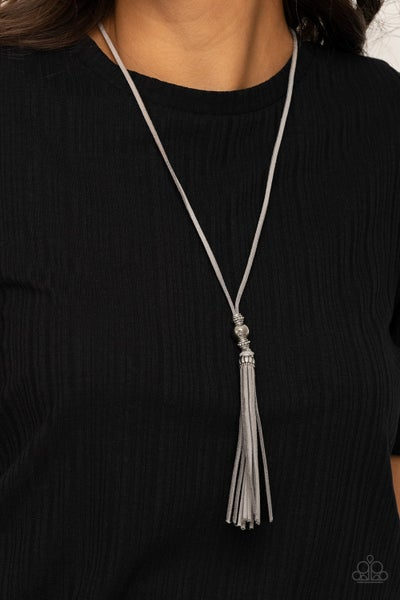 Hold My Tassel - Silver Necklace
