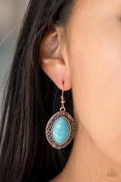 Aztec Horizons - Copper Earrings