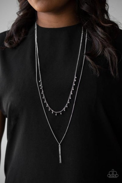 Keep Your Eye On The Pendulum - Silver Necklace