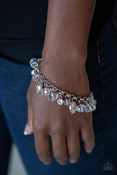 Dazing Dazzle - White Clasp Bracelet