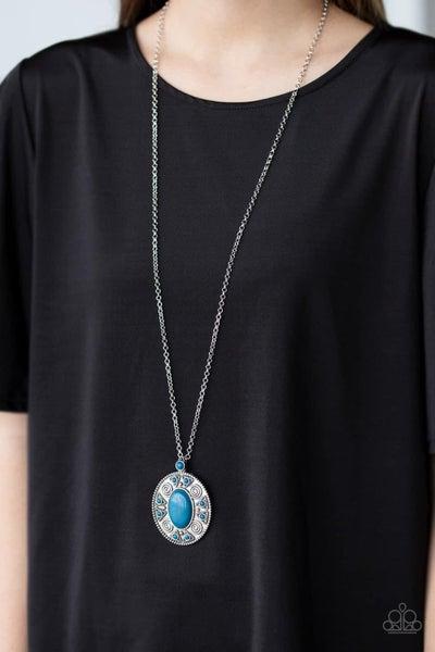 Sunset Sensation – Blue Necklace