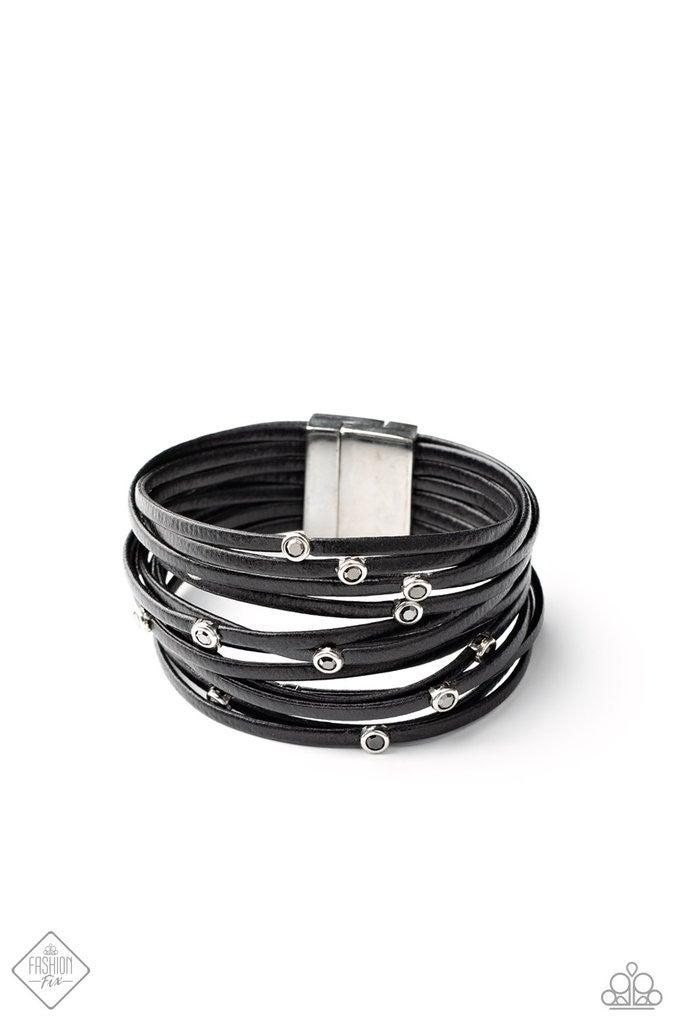 Fearlessly Layered - Black Urban Bracelet