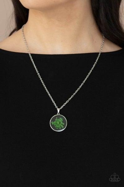 Tea Party Tease - Green Necklace