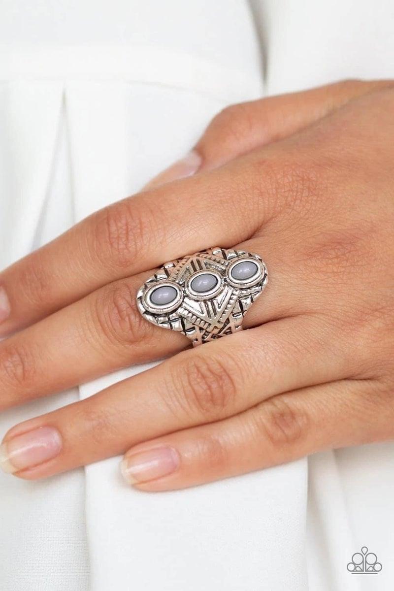 Mayan Motif - Silver Ring