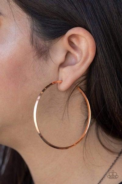5th Avenue Attitude - Copper Hoop Earrings