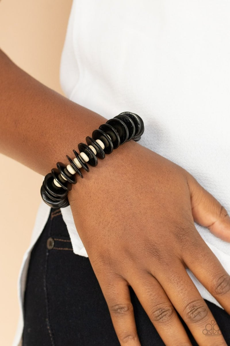 Caribbean Reefs - Black Stretchy Bracelet