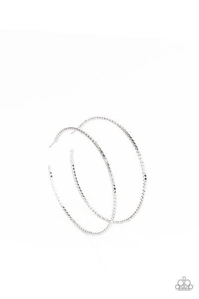 Pump Up The Volume - Silver Hoop Earrings