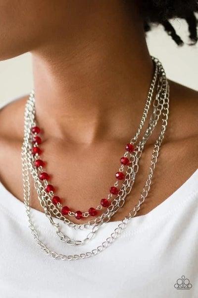 Extravagant Elegance - Red Necklace