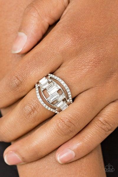 Treasure Chest Charm - White Ring