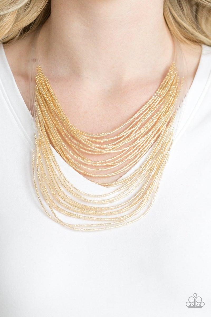 Catwalk Queen - Gold Necklace