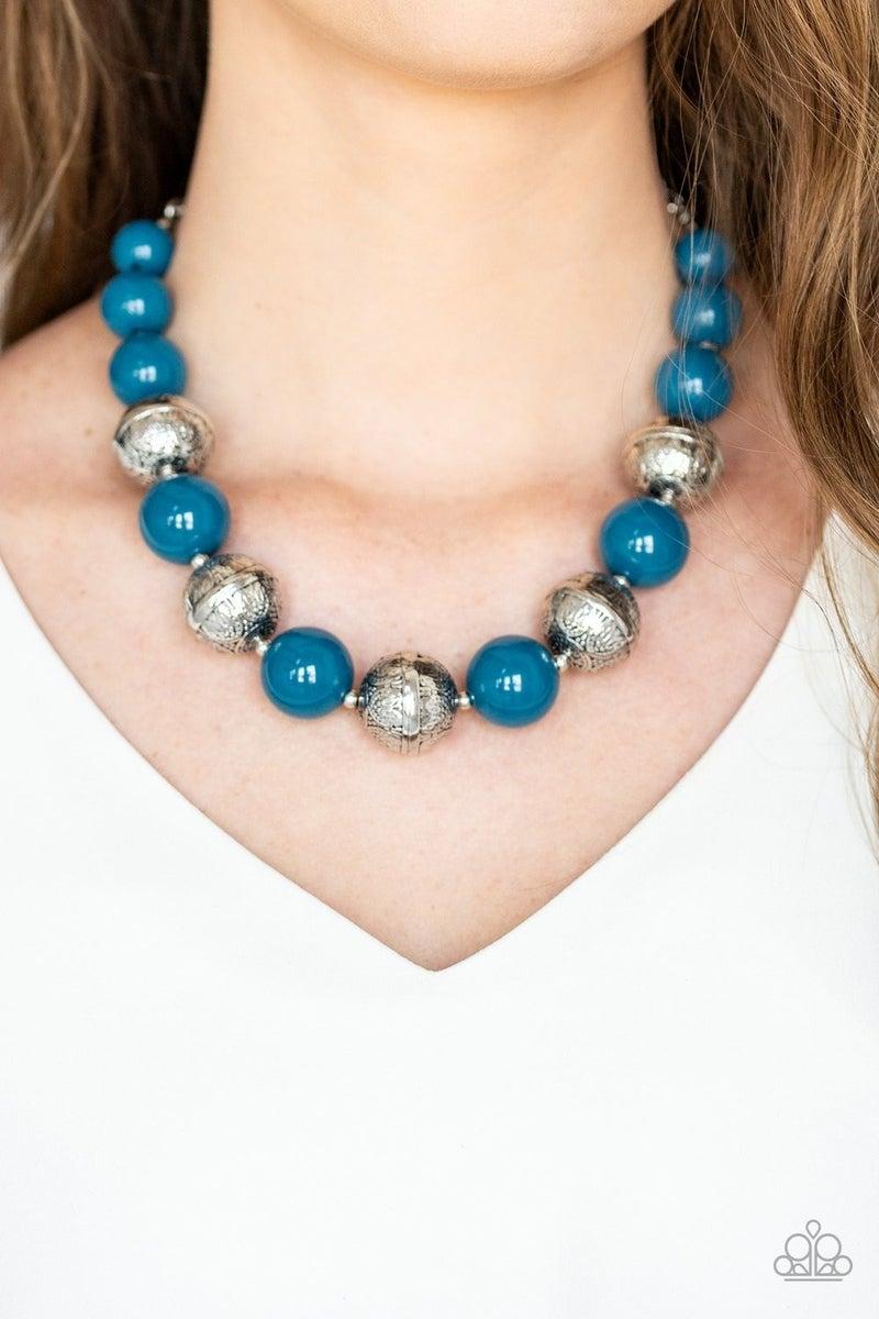 Floral Fusion - Blue Necklace