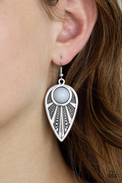 Take A WALKABOUT - Silver Earrings