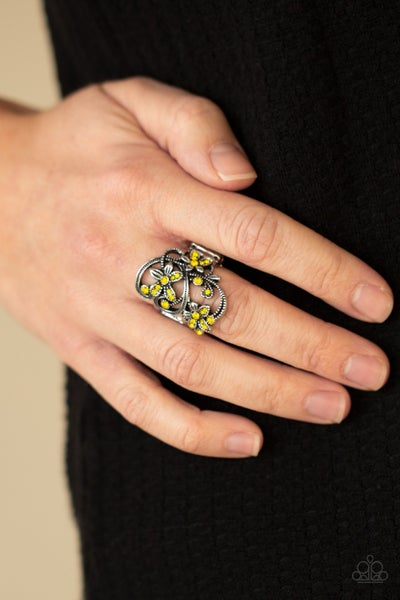 Bouquet Toss - Yellow Ring