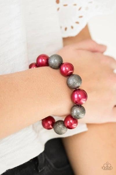 Humble Hustle - Red Stretchy Bracelet
