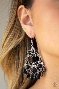 Garden Dream - Black Earrings