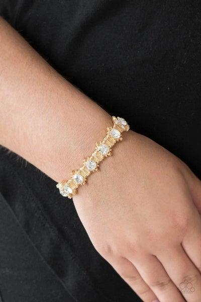 Strut Your Stuff - Gold Stretchy Bracelet