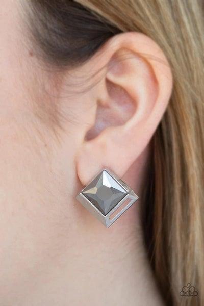 Stellar Square - Silver Earrings