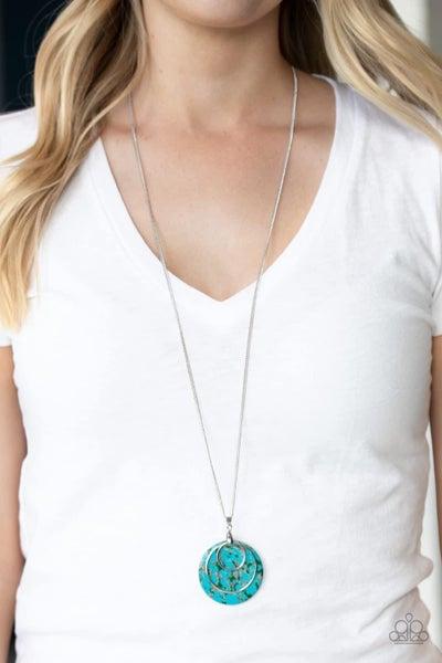 Sahara Equinox - Blue Necklace