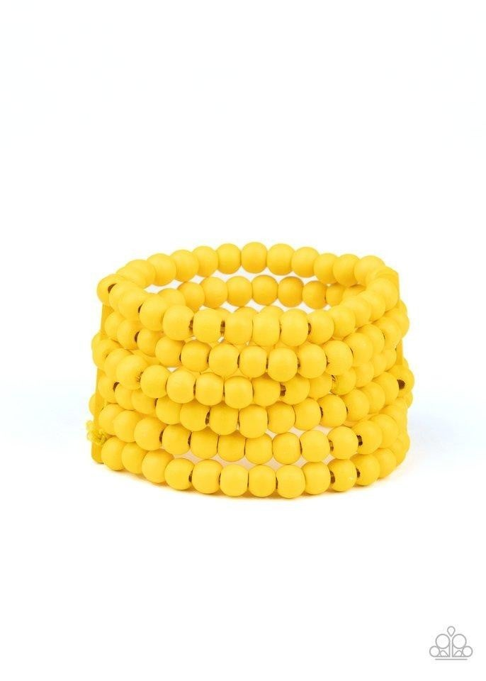 Diving in Maldives - Yellow Stretchy Bracelet