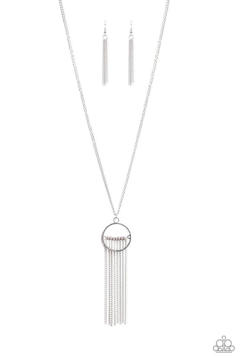 Terra Tassel - Silver Necklace