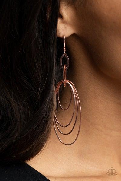 OVAL The Moon - Copper Earrings