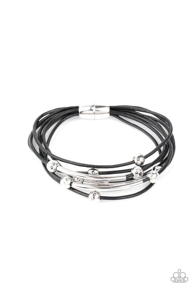Magnetically Modern - Black Urban Bracelet