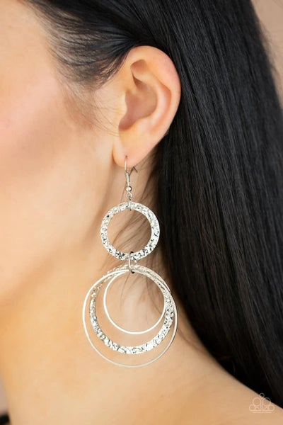 Eclipsed Edge - Silver Earrings