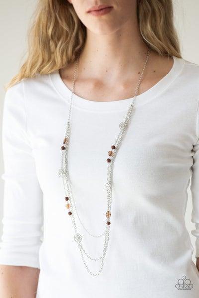 Pretty Pop-tastic! - Brown Necklace