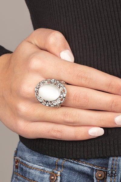 Moonlit Marigold - White Ring