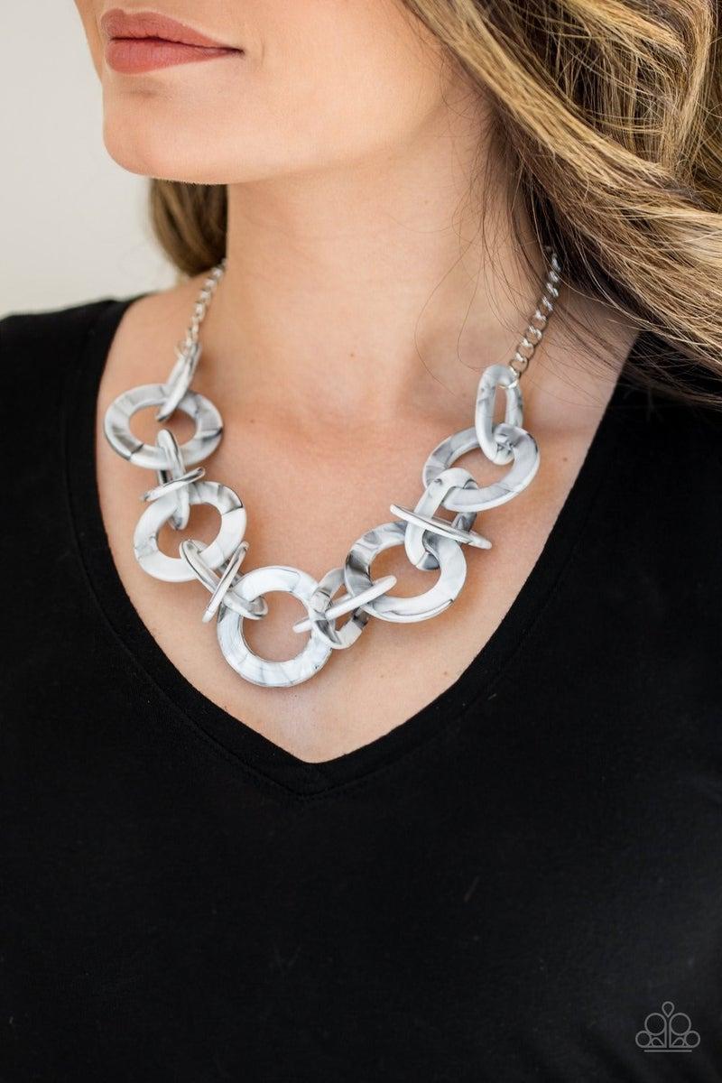 Chromatic Charm - White Necklace