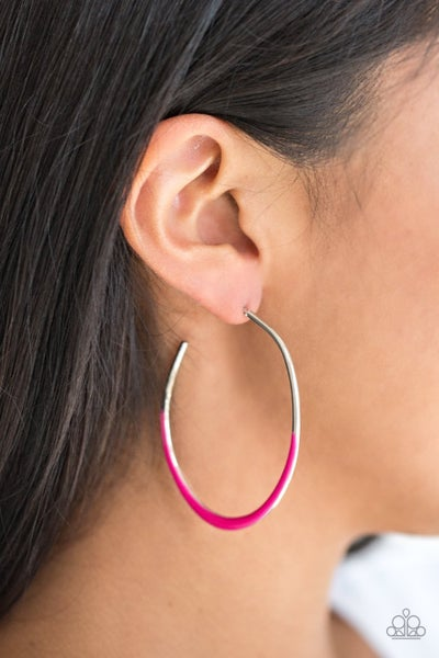 So Seren-DIP-itous - Pink Hoop Earrings