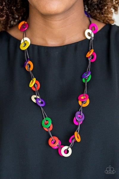 Waikiki Winds - Multi Wooden Necklace