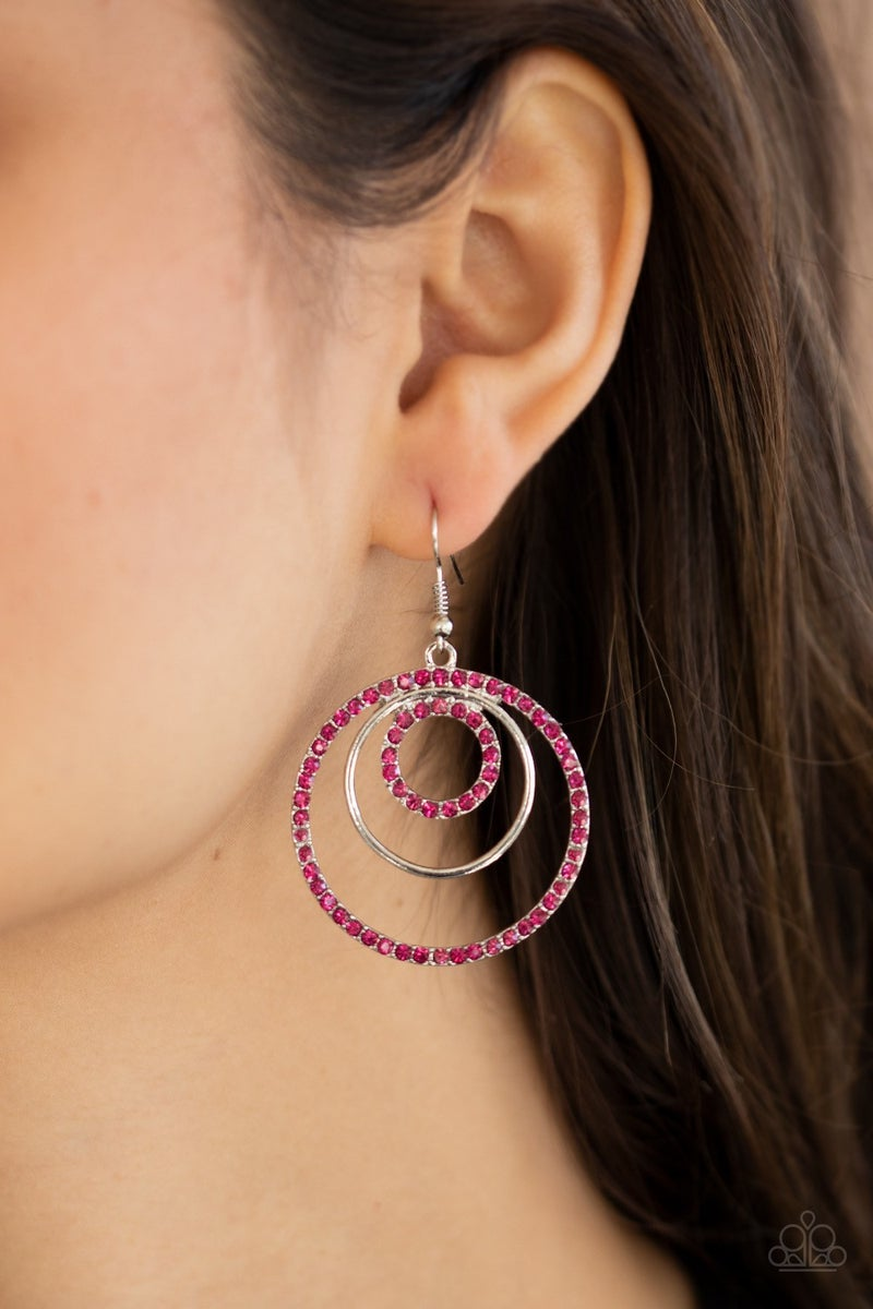 Bodaciously Bubbly - Pink Earrings