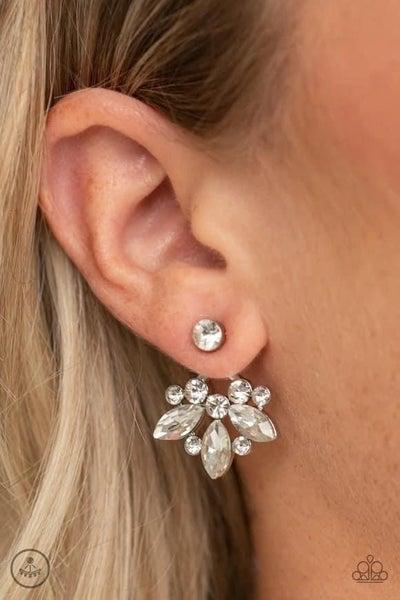 Crystal Constellations - White Earrings