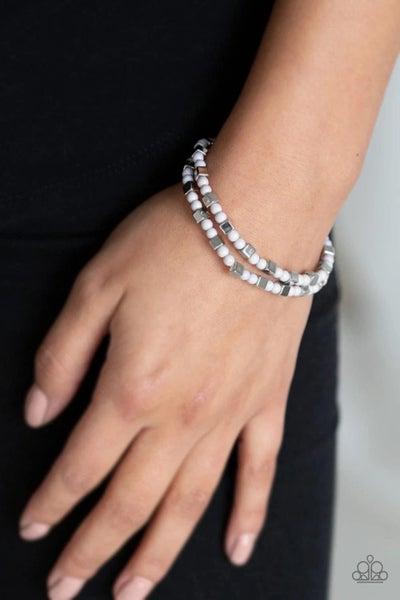 Trendy Tribalist - Silver Stretchy Bracelet
