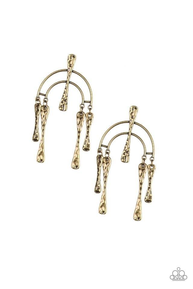 ARTIFACTS Of Life - Brass Earrings