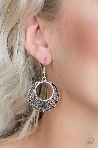 Grapevine Glamorous- Silver Earrings